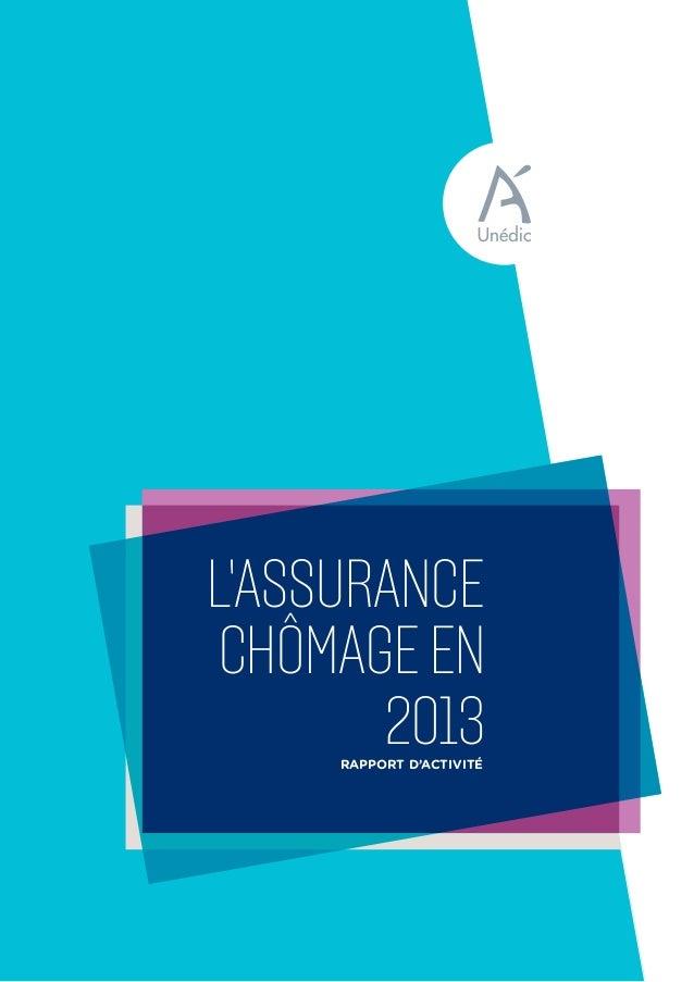 Rapport d'activité chômageen L'ASSURANCE 2013