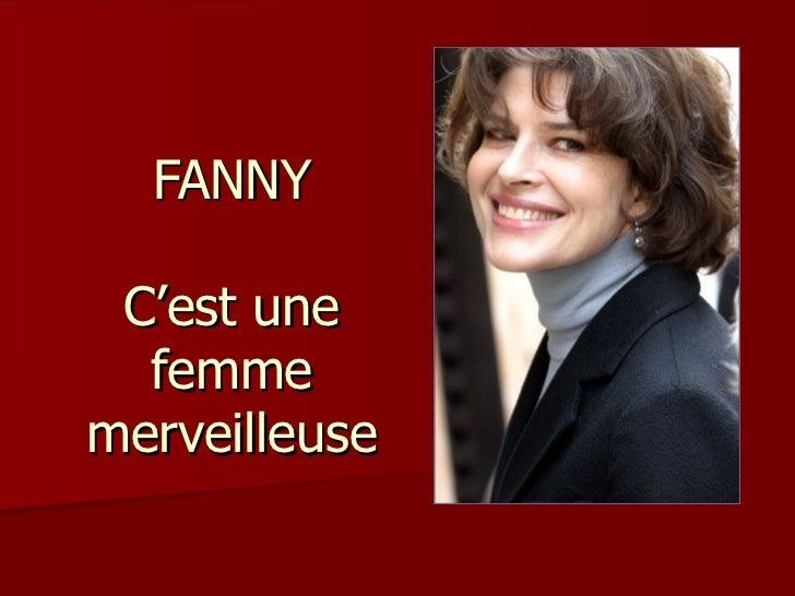 FANNY C'est une  femmemerveilleuse