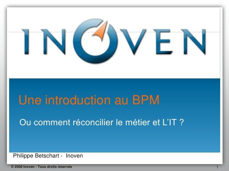 Une Introduction Au Bpm 1.1