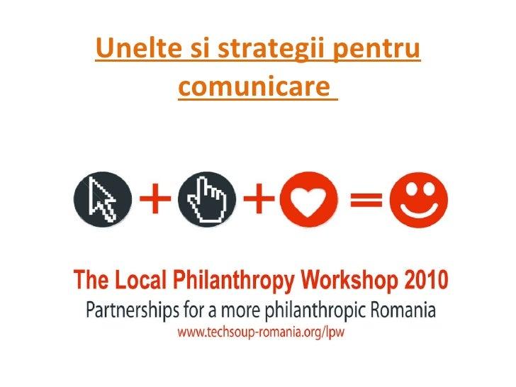 Unelte si strategii pentru comunicare