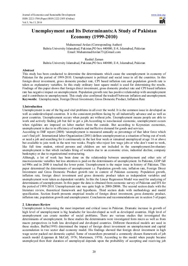 Journal of Economics and Sustainable Development www.iiste.org ISSN 2222-1700 (Paper) ISSN 2222-2855 (Online) Vol.5, No.13...