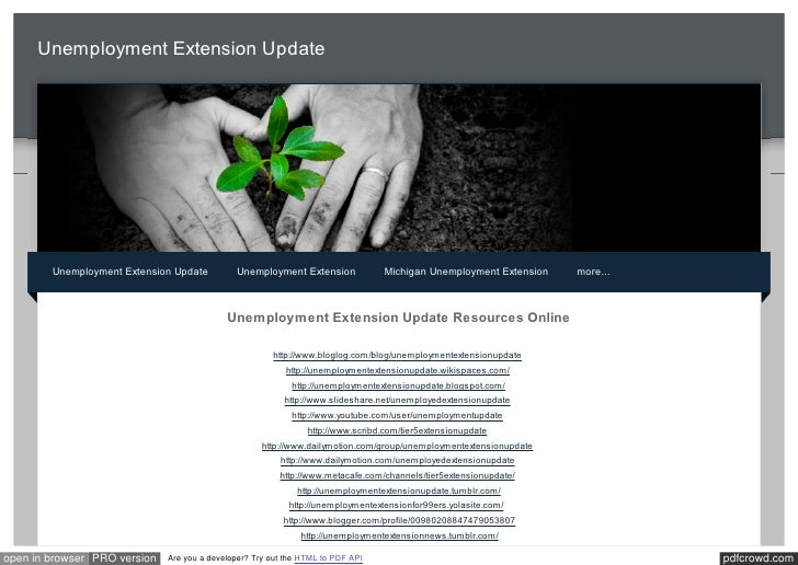 Federal Unemployment Extension