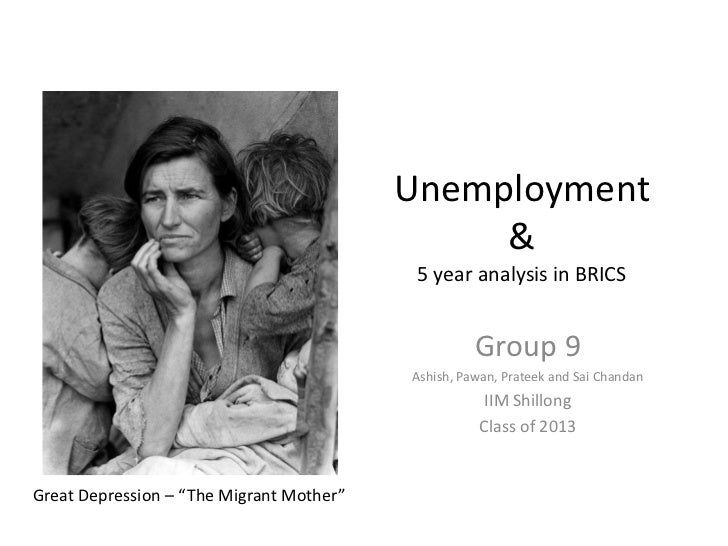 Unemployment In Brics Group9