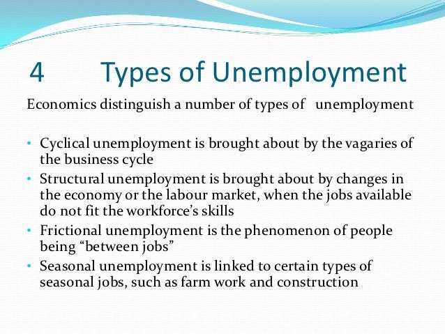 the different types of unemployment in the economy and policies essay Buy custom reducing unemployment essay paper understands the different types of unemployment could be to combine different policies where.