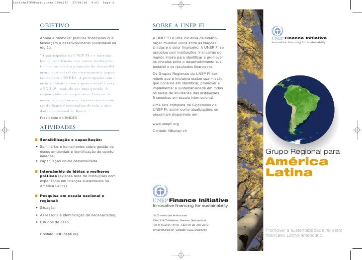 Unep Brochure In Portuguese