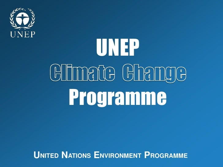 UNEP          Programme  UNITED NATIONS ENVIRONMENT PROGRAMME
