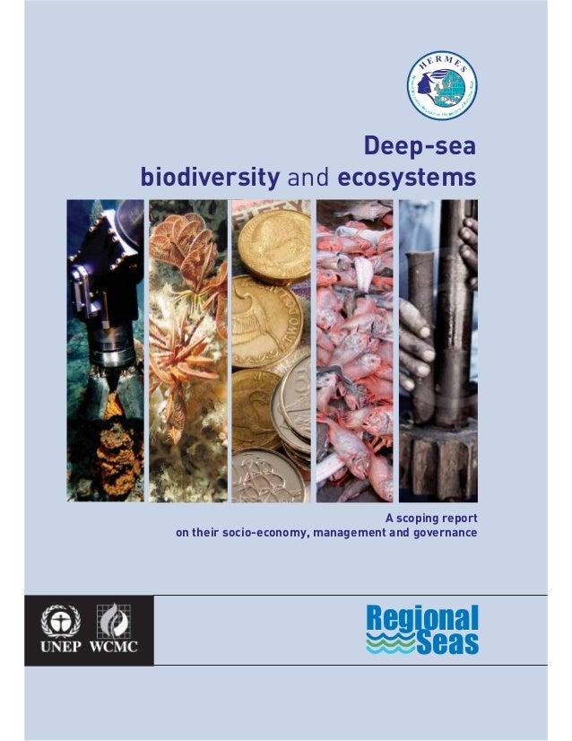 A scoping reporton their socio-economy, management and governanceDeep-seabiodiversity and ecosystemsSeasRegionalHE R M ESH...