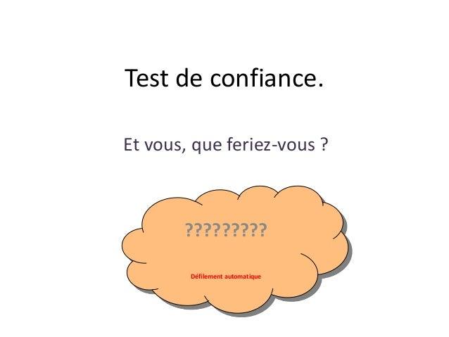 Test de confiance. Et vous, que feriez-vous ? ????????? Défilement automatique