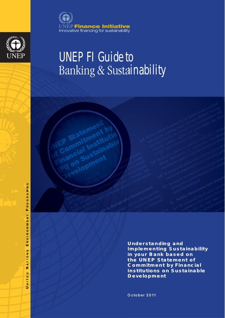 UNEP FI Guide to                      Banking & Sustainability                                     t                      ...