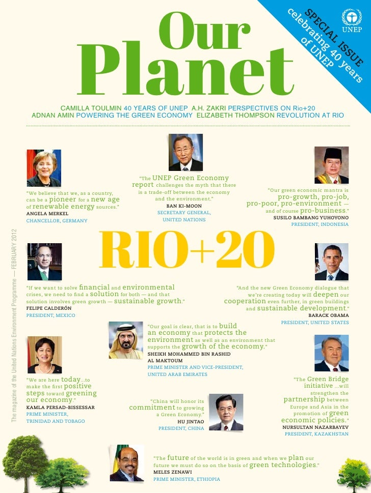 "UNEP Magazine ""Our Planet"" - Secial issue"