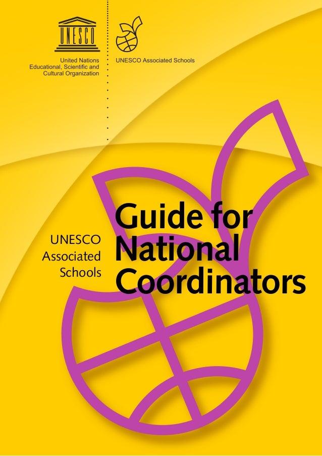 Guide forNationalCoordinatorsUNESCOAssociatedSchools