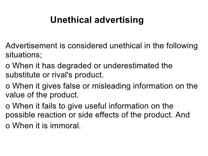 unethical marketing Ethics is not a topic that i hear marketers talking about very often, however it is something that i think about frequently because i understand the societal impact.