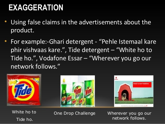 Unethical advertisements Unethical Ads Example