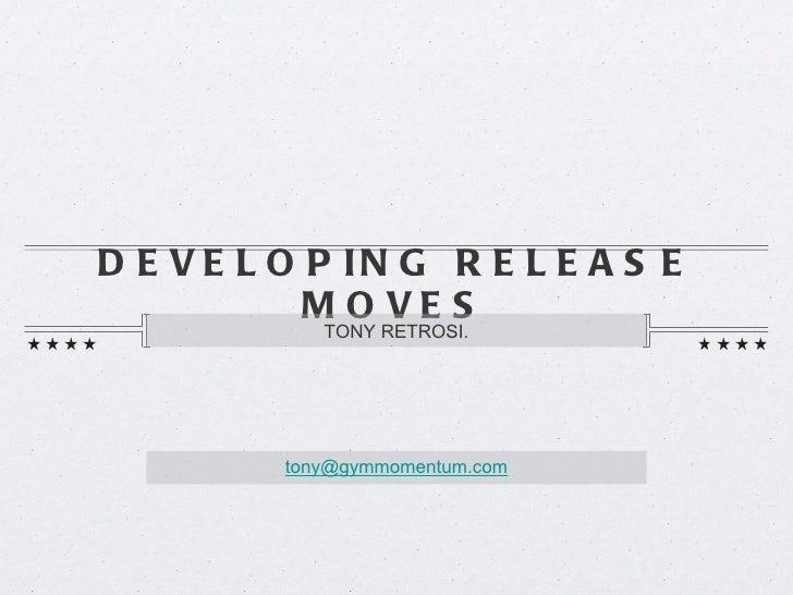 Uneven Bar Release Moves Tony Retrosi Lecture