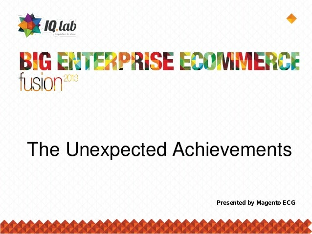 The Unexpected Achievements Presented by Magento ECG
