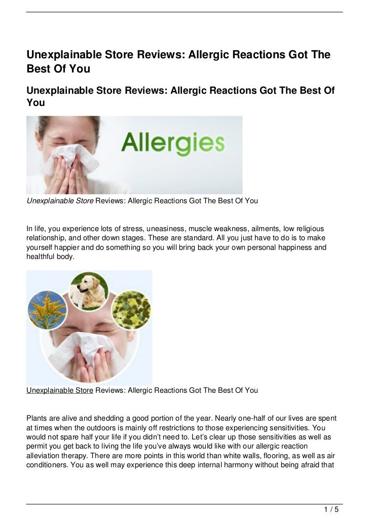 Unexplainable Store Reviews: Allergic Reactions Got TheBest Of YouUnexplainable Store Reviews: Allergic Reactions Got The ...