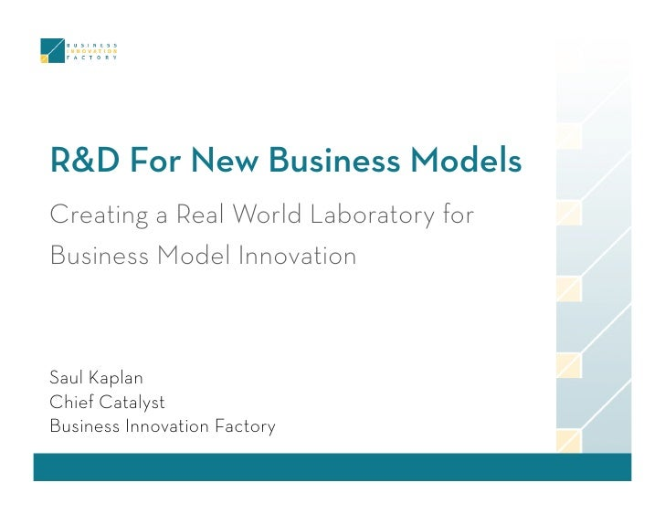 R&D For New Business Models