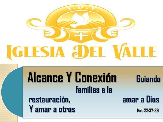 Alcance Y Conexión                   Guiando                 familias a larestauración,                    amar a DiosY am...