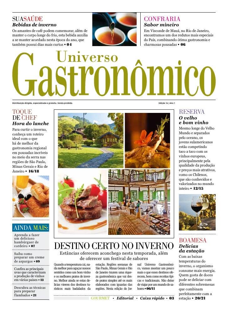 UNIVERSO GASTRONÔMICO - GASTRONOMIA NA SERRA