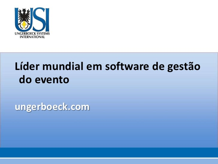 Sobre o Ungerboeck Software