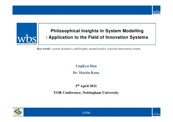 Philosophical Insights in System Modelling                        : Application to the Field of Innovation Systems        ...