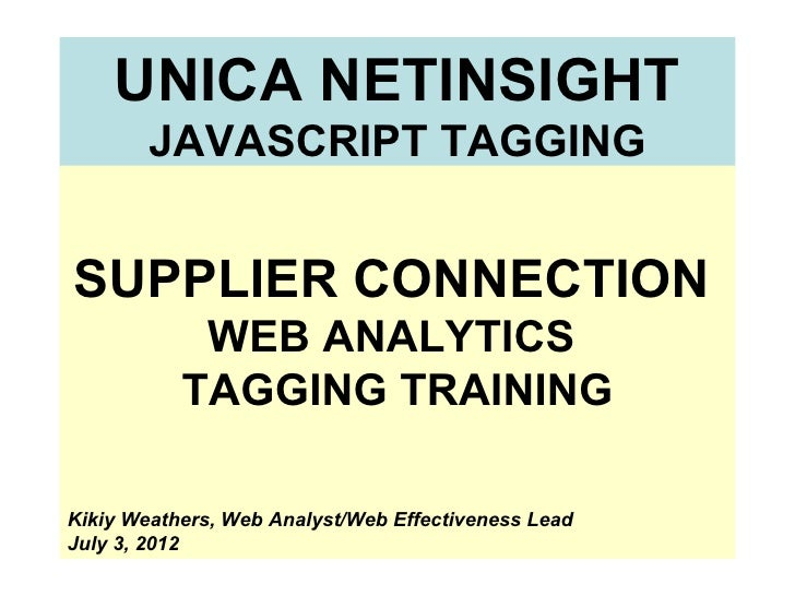 Unica netinsight custom tagging
