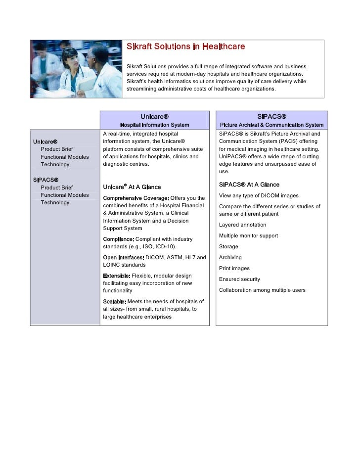 Sikraft Solutions in Healthcare                                    Sikraft Solutions provides a full range of integrated s...