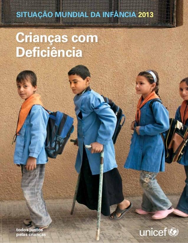 Unicef   situação mundial da infância 2013
