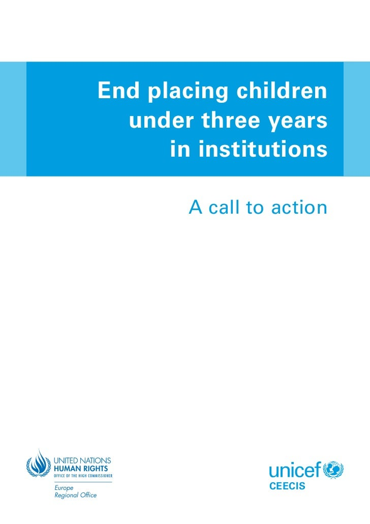 End placing children  under three years      in institutions        A call to action                 CEECIS