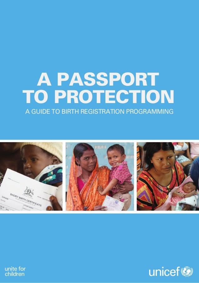 Passport to Protection: A Guide to Birth Registration Programming