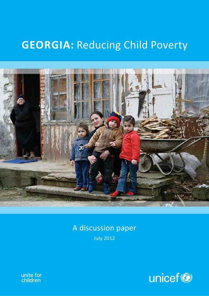 Georgia: Reducing child poverty