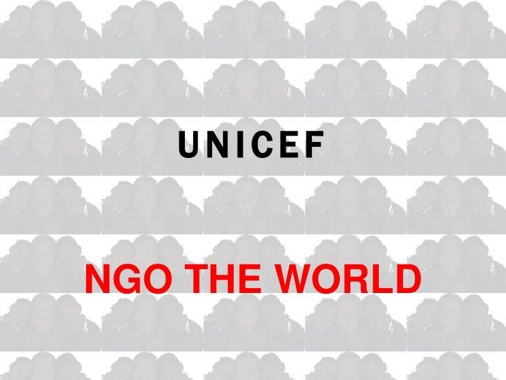 UNICEFNGO THE WORLD
