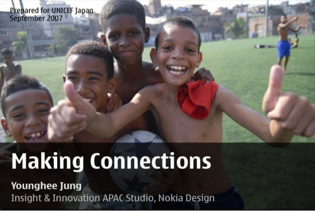 Making Connections : A talk on mobile engagement for UNICEF Japan