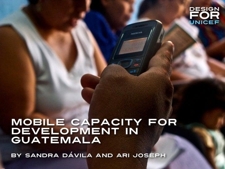 Mobile Capacity for Development in Guatemala