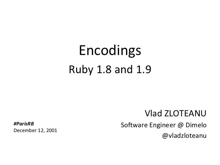 Encodings - Ruby 1.8 and Ruby 1.9