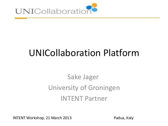 The UniCollaboration Platform