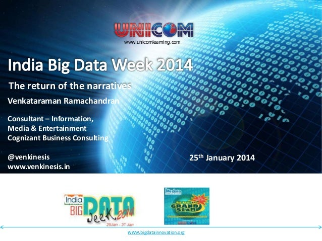 Unicom Big Data Innovation Conference - The return of the narrative