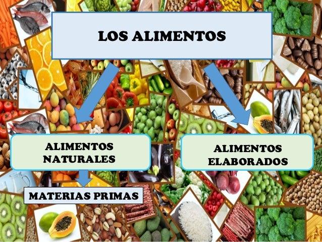 LOS ALIMENTOS MATERIAS PRIMAS ALIMENTOS ELABORADOS ALIMENTOS NATURALES