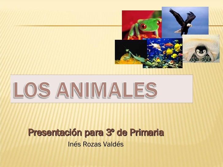 Presentación para 3º de Primaria Inés Rozas Valdés