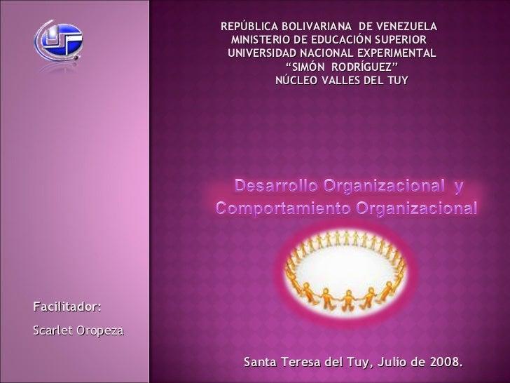 "REPÚBLICA  BOLIVARIANA  DE VENEZUELA MINISTERIO DE EDUCACIÓN SUPERIOR UNIVERSIDAD NACIONAL EXPERIMENTAL "" SIMÓN  RODRÍGUEZ..."