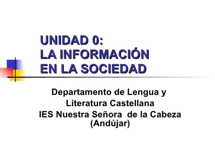 Unidad 0: La información