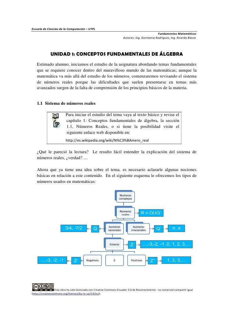 Unidad1 conceptosfundamentalesalgebra