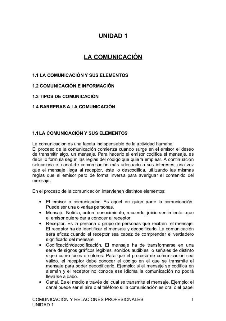 Comunicación y relaciones profesionales