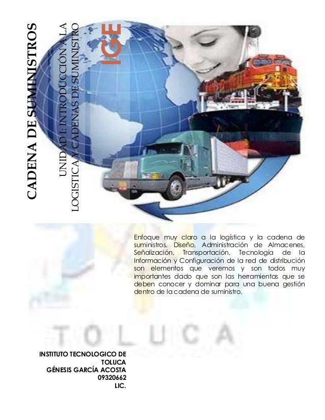 IGECADENA DE SUMINISTROS                         LOGISTICA Y CADENAS DE SUMINISTRO                               UNIDAD I:...