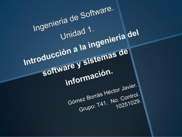 Unidad 1 ing de software