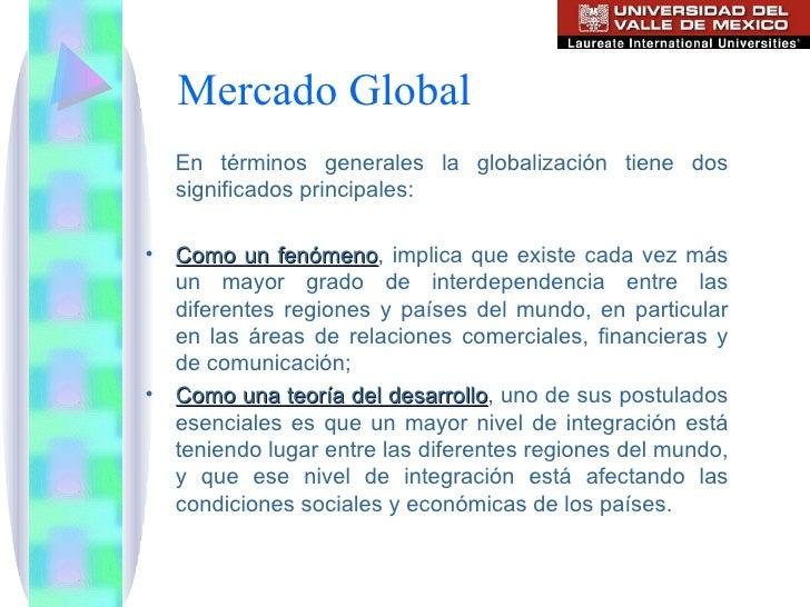 Unidad 1 mercado global for Que es mercado exterior