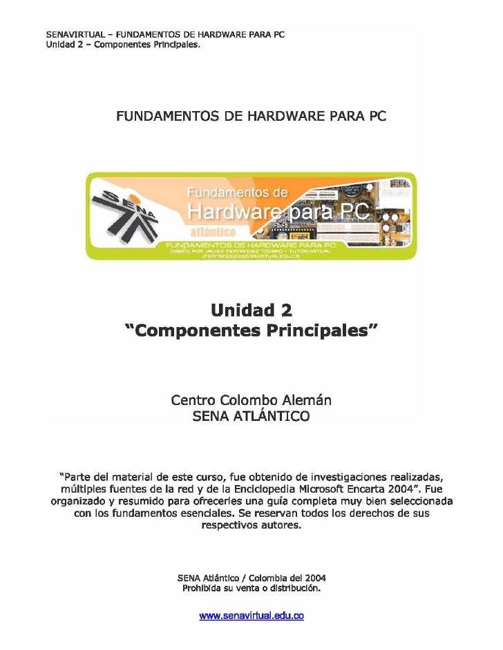 Unidad 2   componentes principales