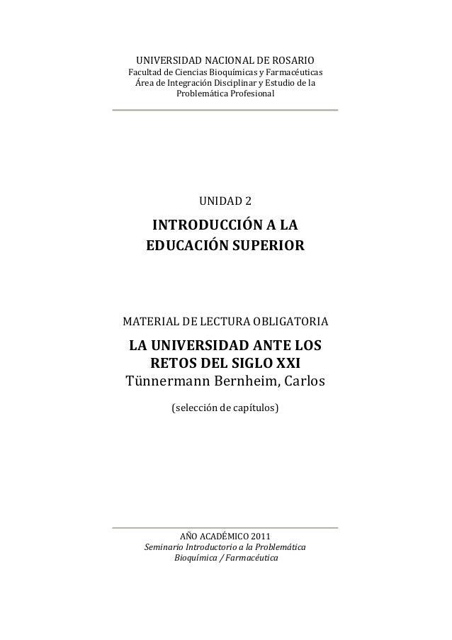 UNIVERSIDAD NACIONAL DE ROSARIOFacultad de Ciencias Bioquímicas y Farmacéuticas  Área de Integración Disciplinar y Estudio...
