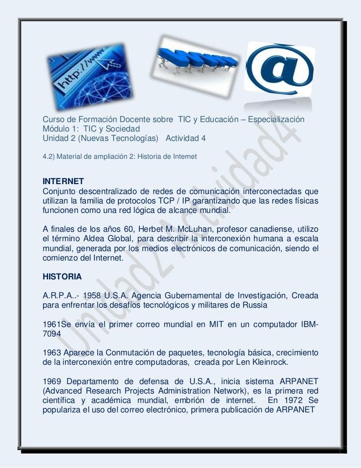 Curso de Formación Docente sobre TIC y Educación – EspecializaciónMódulo 1: TIC y SociedadUnidad 2 (Nuevas Tecnologías) Ac...