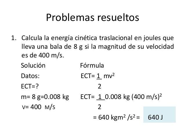Energia Cinetica Formula Calcula la Energ a Cin Tica